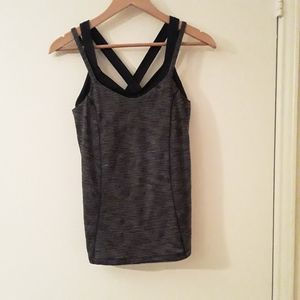 Lululemon Grey and Black Athletic Top
